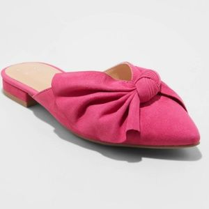 6.5 Beth Mules With A Bow Hot Pink Slides A New Day Women/'s Sz New